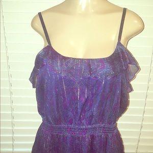 Purple and blue paisley maxi.